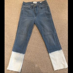 Frame Le High Waisted Cropped Leg Jeans